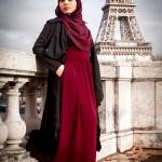 Robe Laly Bordeaux & Cardigan Nourane Noir - Misstoura