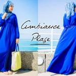 Robe Saliya Bleu Electrique - Misstoura