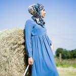 Robe Evidence Bleu Guède & Hijab Savanah - Misstoura