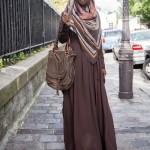 Abaya Anastasia Bleu Marron - Misstoura