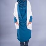 Tunique Alliance Bleu Pétrole & Cardigan Bali Ecru - Misstoura