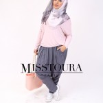 Top Essentiel Rose & Sarouel Hayla Gris - Misstoura