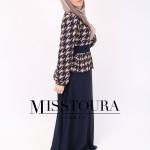 Robe Dahlia Bleu Marine - Misstoura