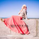 Top Essentiel Taupe & Jupe plissée Margot Corail - Misstoura