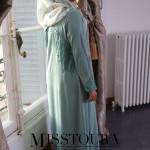 Abaya Safiya Bleu Céladon - Misstoura