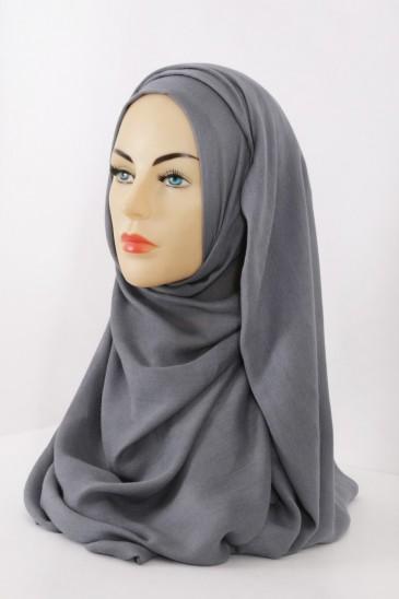 Hijeb Cachemire - Gris pas cher & discount