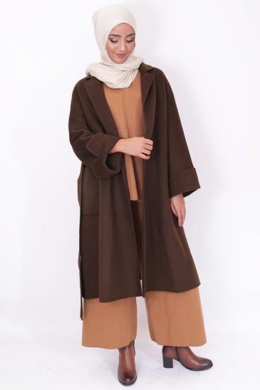 Manteau long femme voilée chic pas cher & discount