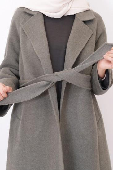 Manteau Laine Kalya femme musulmane pas cher & discount