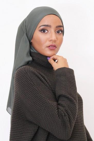 Hijeb Cachemire - Kaki pas cher & discount