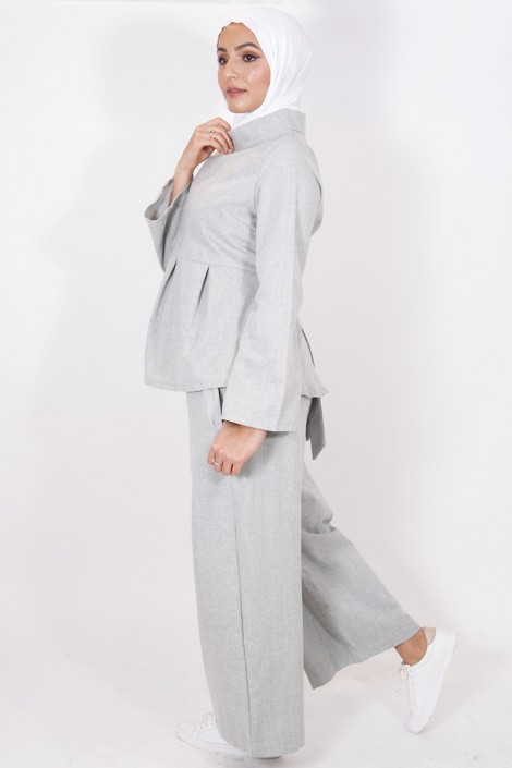 Pantalon Eva gris clair