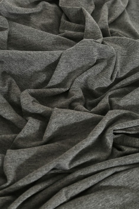 Snood cagoule gris anthracite