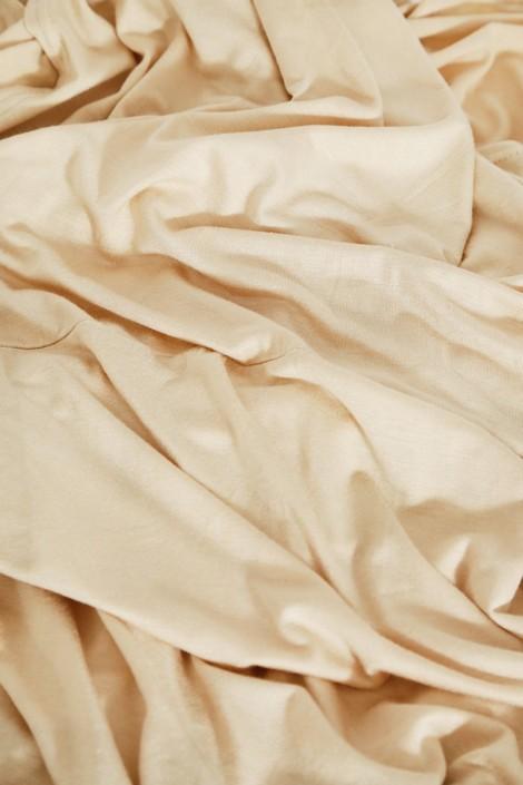 Snood cagoule beige clair