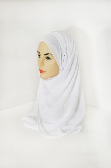 Hijab basic carré blanc pas cher & discount