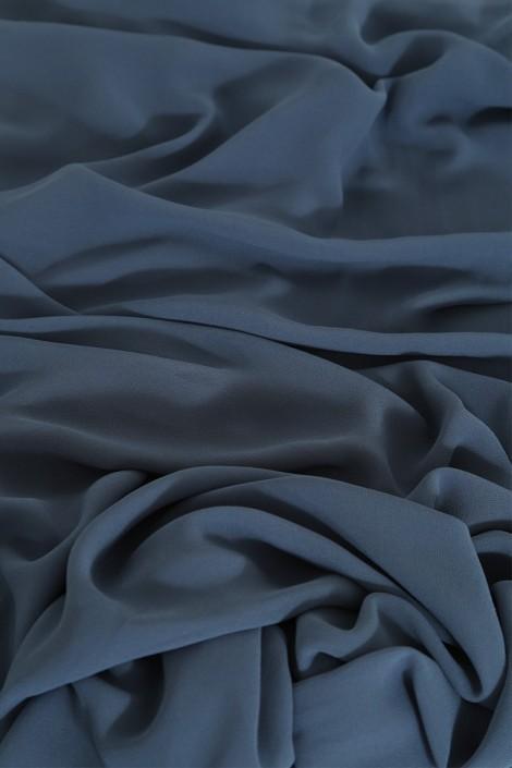 Hijab basic carré bleu guède