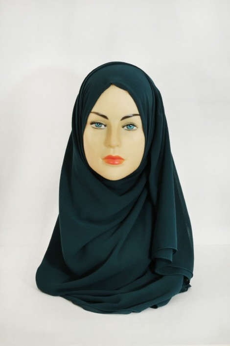 Hijab Basic carré vert canard