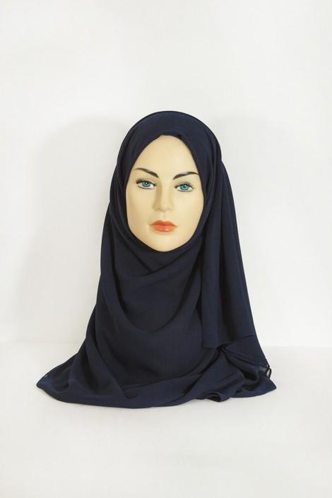 Hijab basic carré bleu marine