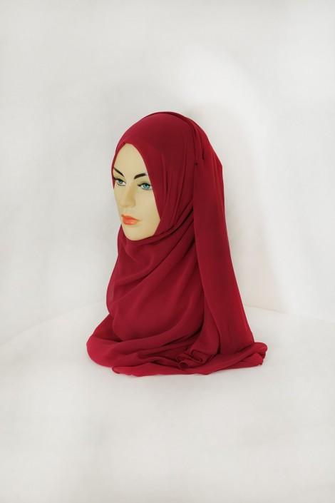 Hijeb basic carré lie de vin
