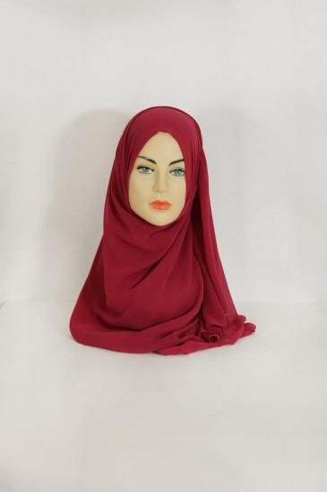 Hijeb basic carré lie de vin pas cher & discount