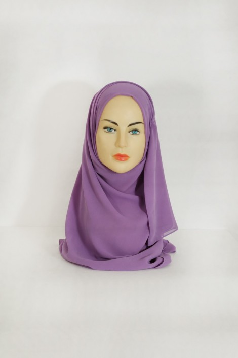 Hijab basic carré parme