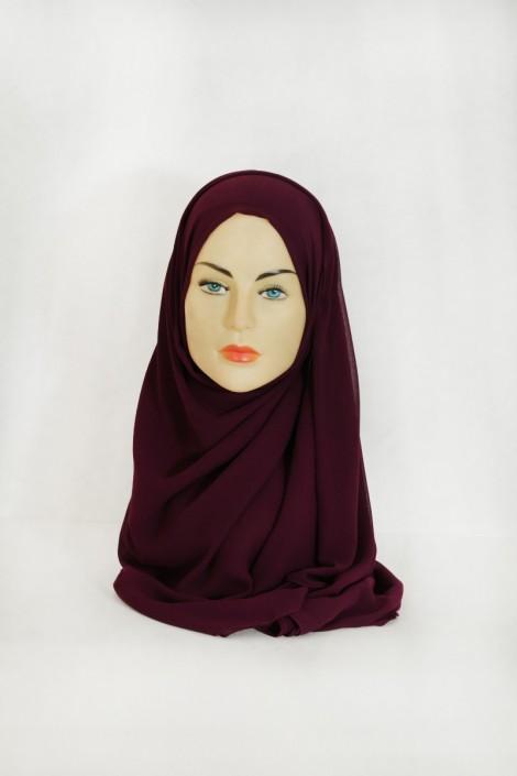 Hijab basic carré prune