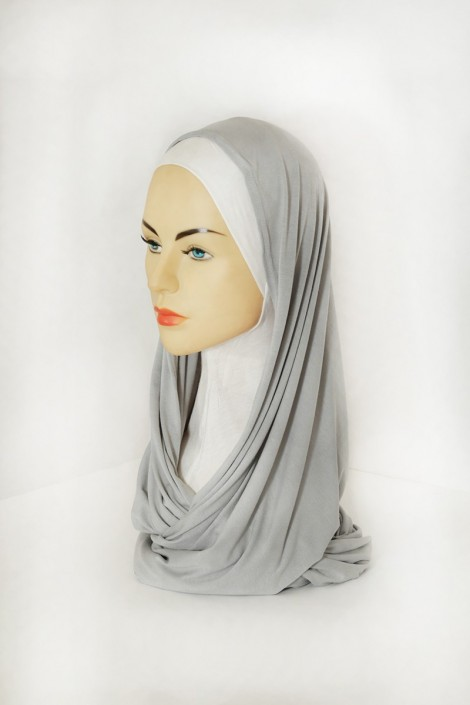 Snood Uni Gris Clair