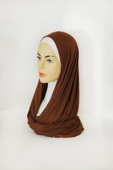 Snood Uni Noisette pas cher & discount