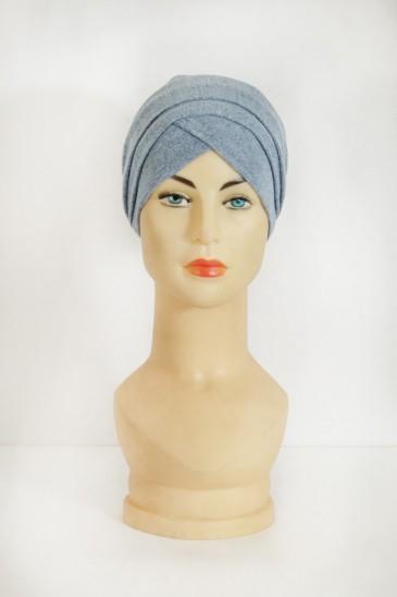 Turban Marwa Bleu pas cher & discount