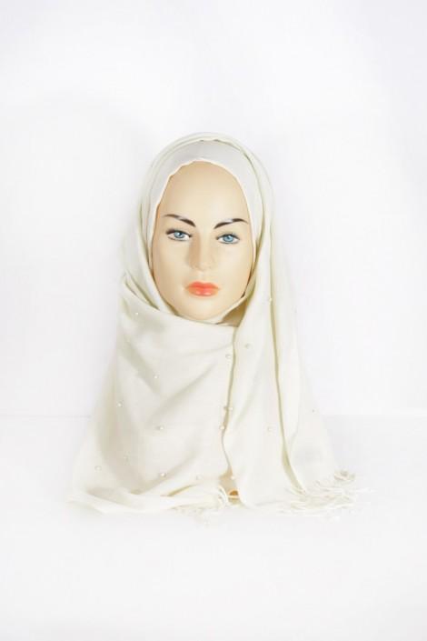Hijab Pashmina Perle Vanille
