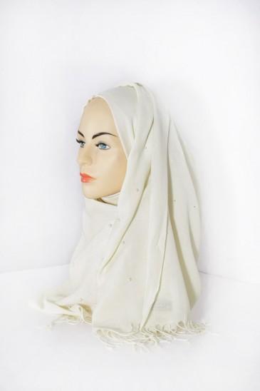 Hijab Pashmina Perle Vanille pas cher & discount