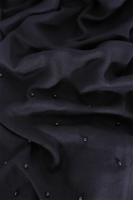 Hijab Pashmina Perle Noir