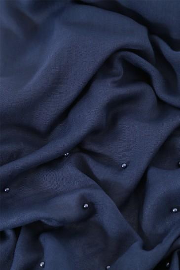 Hijab Pashmina Perle Bleu Indigo pas cher & discount