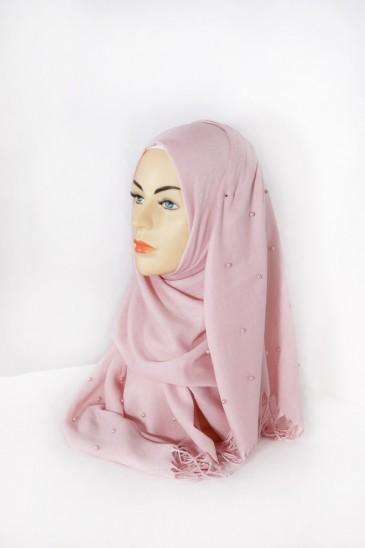 Hijab Pashmina Perle Rose pas cher & discount