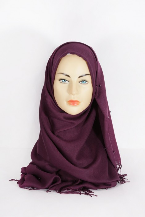 Hijab Pashmina Perle Violet