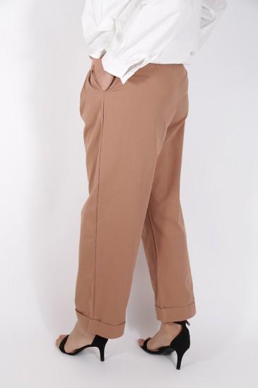 Pantalon Yousra Terre Cuite pas cher & discount
