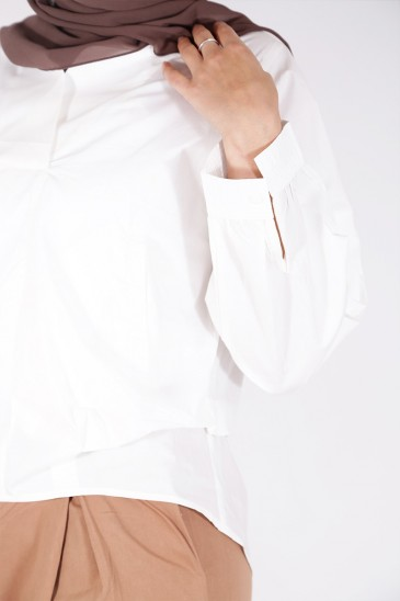 Chemise Saddaf Blanc pas cher & discount