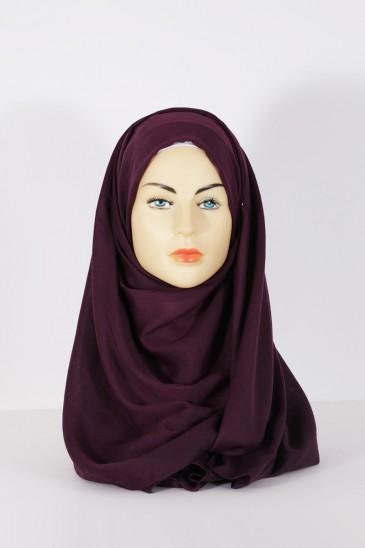 Hijab Pashmina XXL Aubergine pas cher & discount