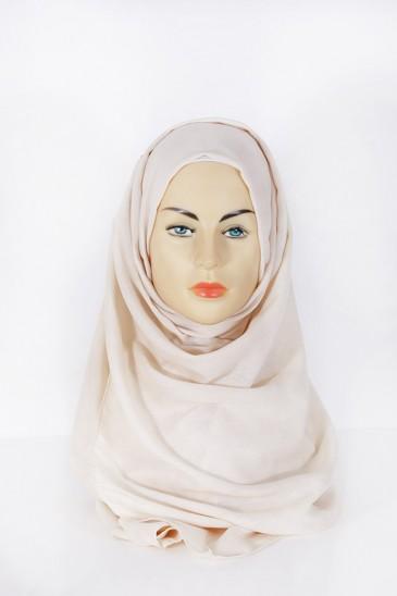 Hijab Pashmina XXL Beige pas cher & discount