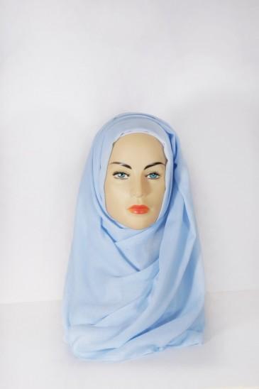 Hijab Pashmina XXL Bleu ciel pas cher & discount