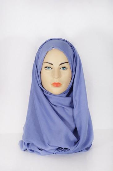 Hijab Pashmina XXL Bleu jean clair pas cher & discount