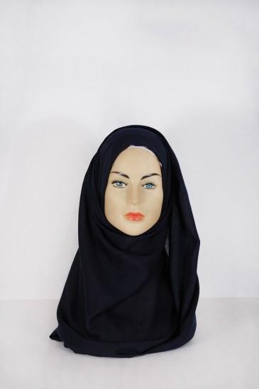 Hijab Pashmina XXL Ble nuit pas cher & discount