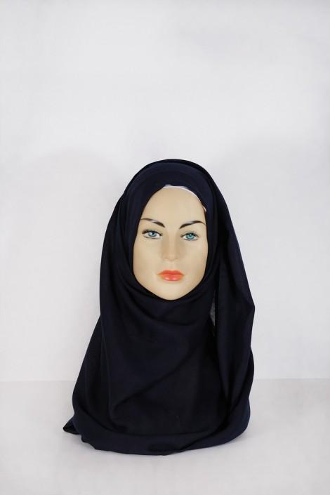 Hijab Pashmina XXL Ble nuit