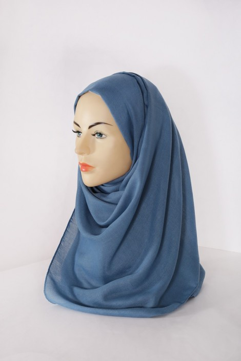 Hijab Pashmina XXL Bleu turquin