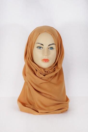 Hijab Pashmina XXL Camel pas cher & discount