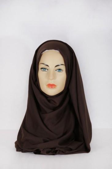 Hijab Pashmina XXL Chocolat pas cher & discount