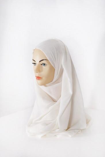 Hijab Pashmina XXL Ecru pas cher & discount
