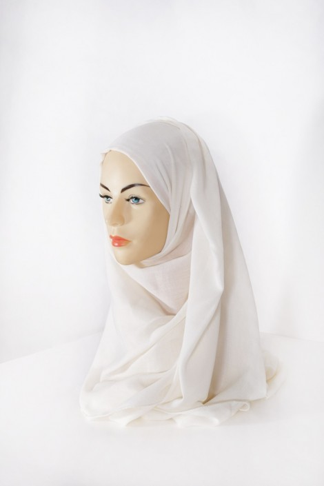 Hijab Pashmina XXL Ecru