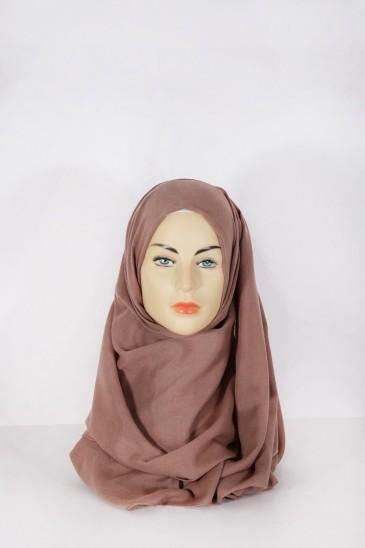 Hijab Pashmina XXL Chataigne pas cher & discount