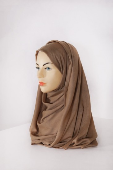 Hijab Pashmina XXL Cognac pas cher & discount