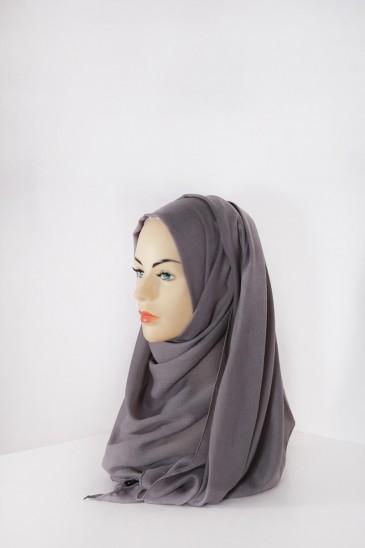 Hijab Pashmina XXL Gris souris pas cher & discount