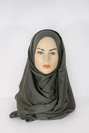 Hijab Pashmina XXL Kaki pas cher & discount